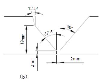 复合坡口(图b)