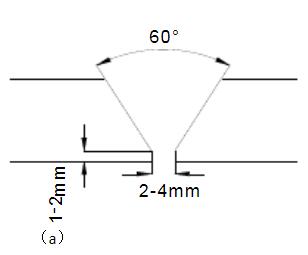 常规单V坡口(图a)