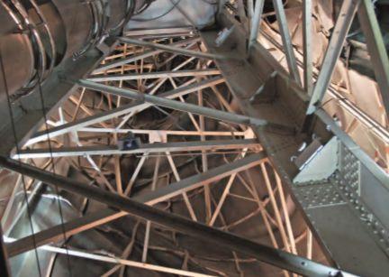 自由女神像的中央塔架修复