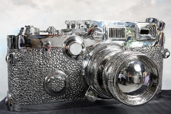 不锈钢徕卡相机雕塑-1