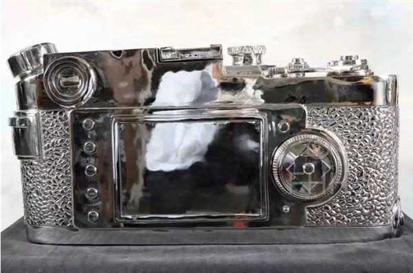 不锈钢徕卡相机雕塑-2