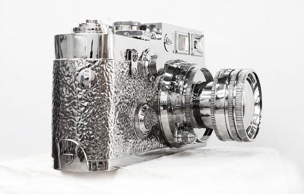 不锈钢徕卡相机雕塑-3