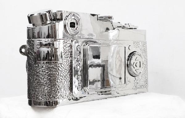 不锈钢徕卡相机雕塑-4