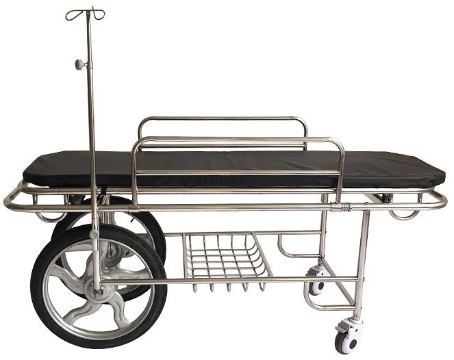 摩托车轮款不锈钢担架车