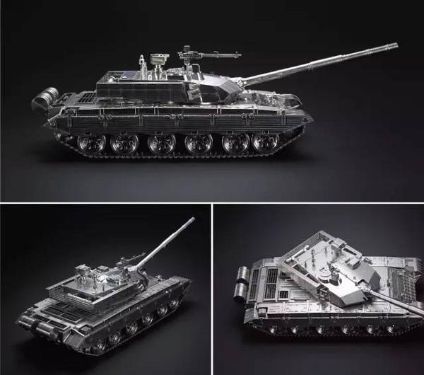 全不锈钢99式坦克模型-2
