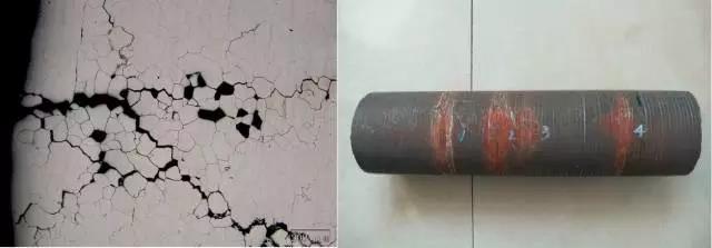 晶间腐蚀微观形貌及零件宏观图